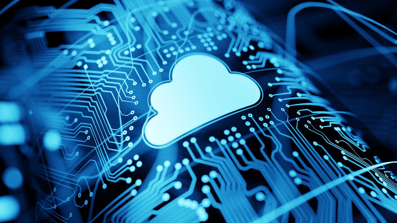 Un nuage parmi des réseaux d'ordinateur