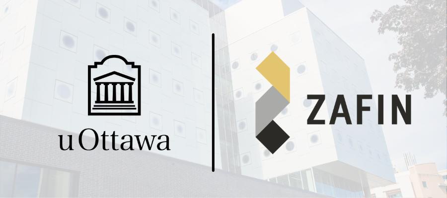 Logo de Zafin et logo de uOttawa