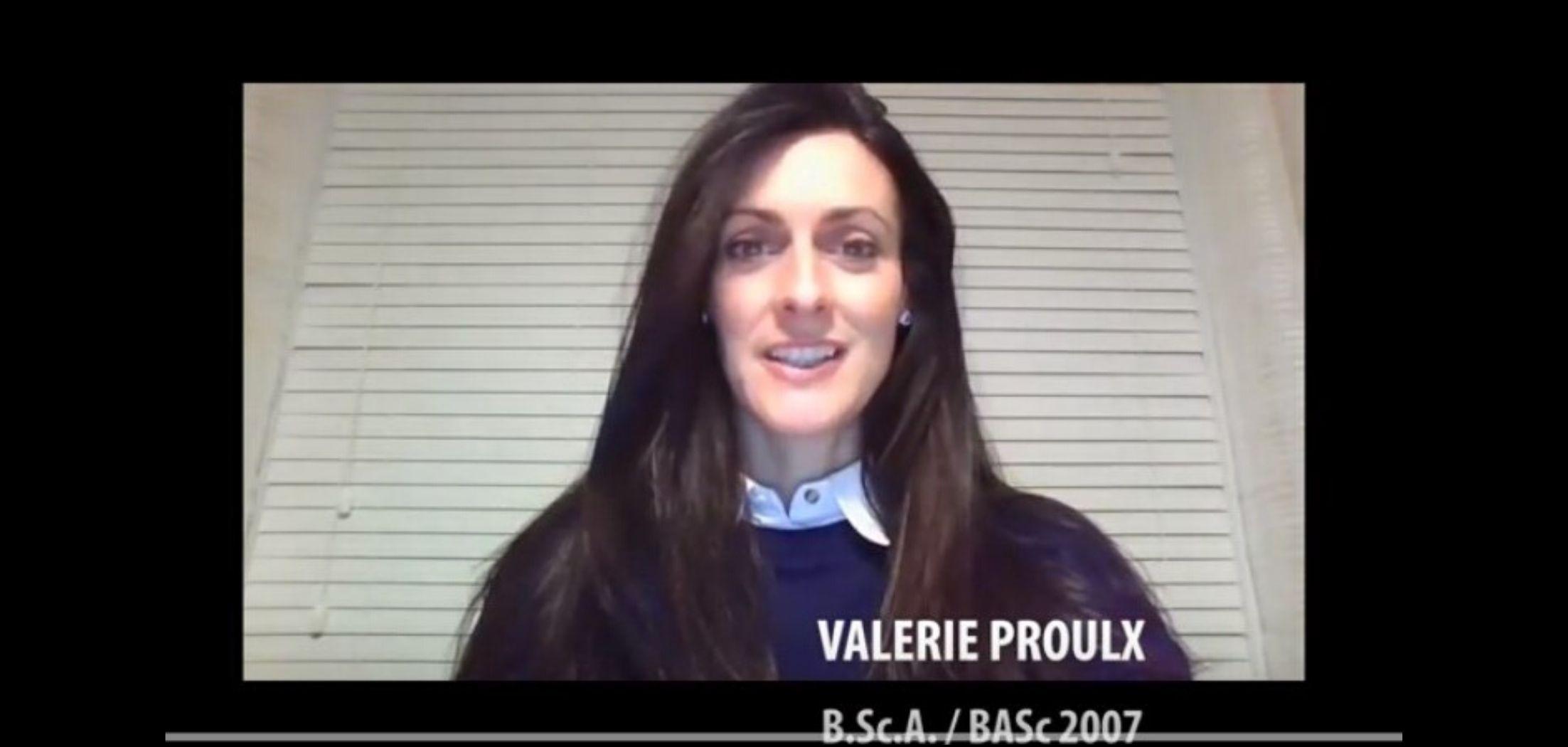 Valérie Proulx, diplômée de la promotion 2007