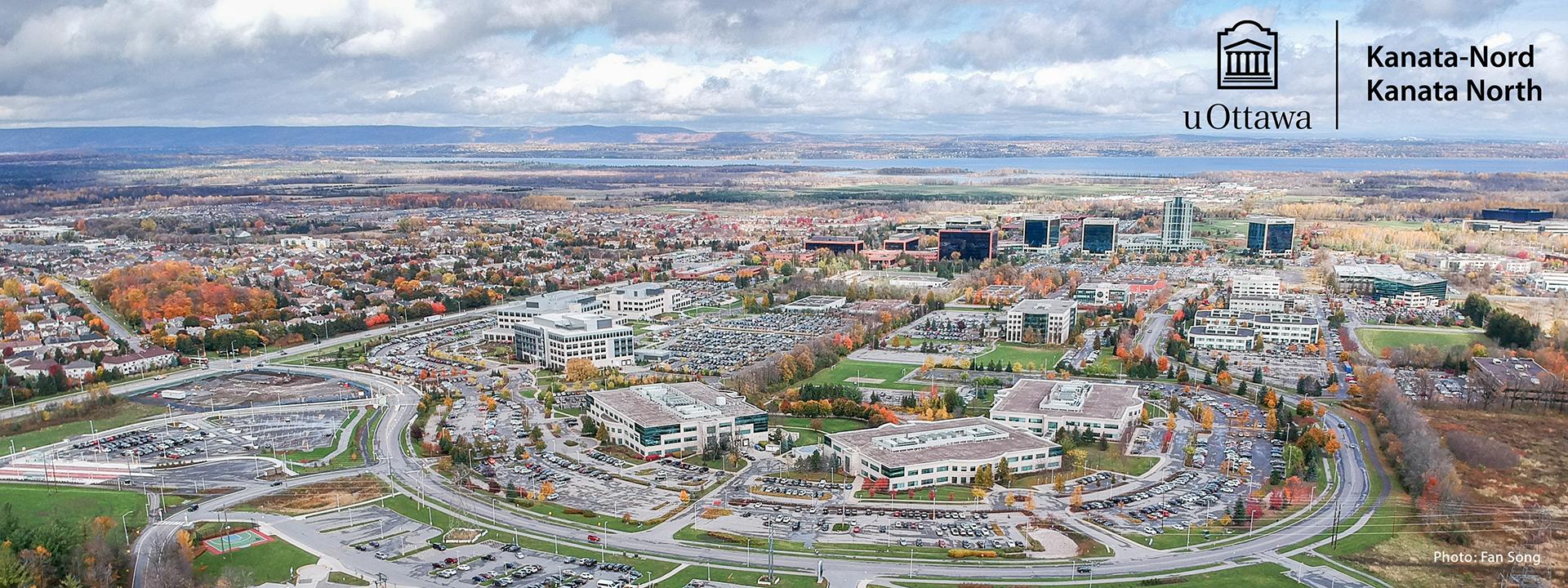 Vue aérienne du parc technologique Kanata-Nord