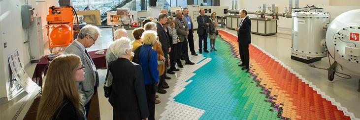 a tour of the photonics lab