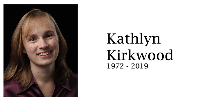En mémoire de Kathlyn Kirkwood 1972 à 2019