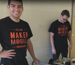 students with Makermobile