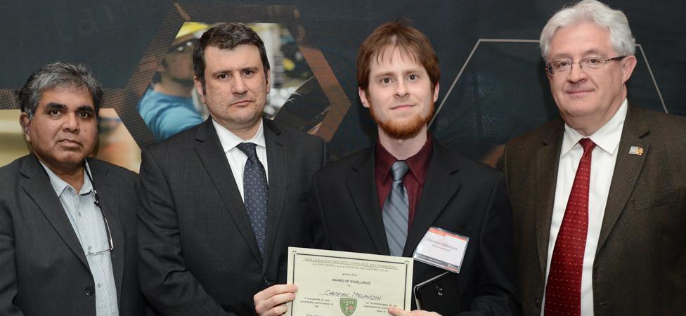 CSCE Mechanical Design Award Winner