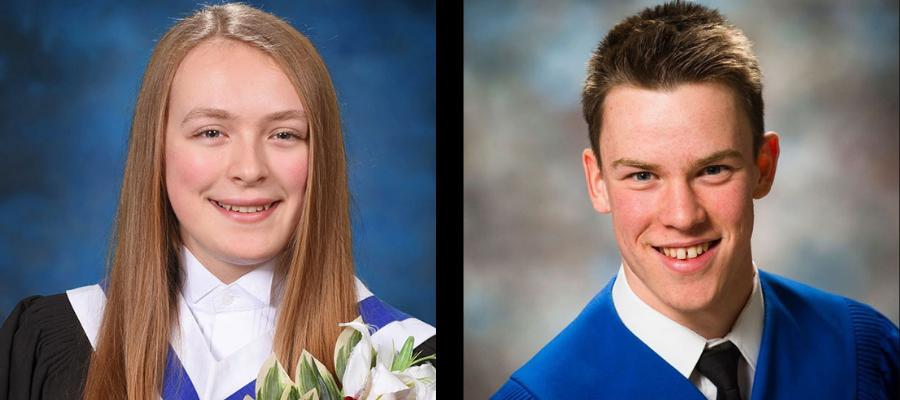 Montage de deux photos de graduation