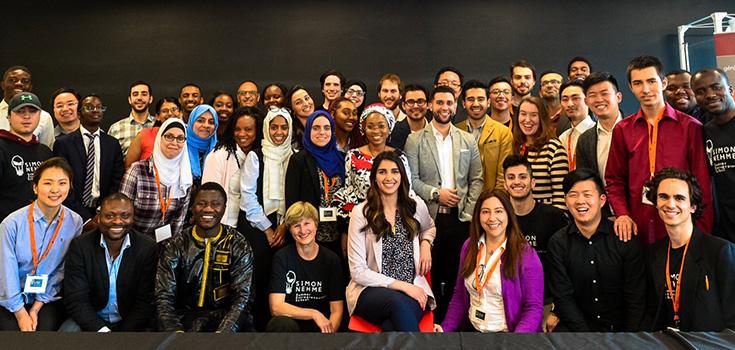 Une photo de groupe des participants et mentors 2018.